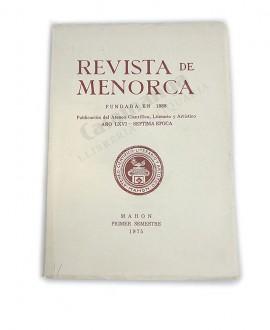REVISTA DE MENORCA AÑO LXVI – SEPTIMA EPOCA PRIMER SEMESTRE 1975