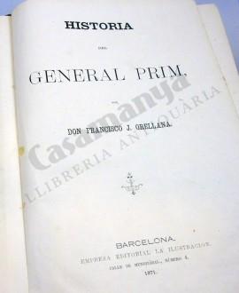 HISTORIA DEL GENERAL PRIM 2 VOL