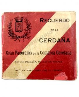 RECUERDO DE LA CERDAÑA,  GRAN PANORAMA DE LA COMARCA CERETANA, PUIGCERDÀ, DESPLEGABLE