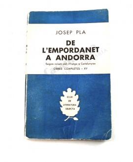 """DE L'EMPORDANET A ANDORRA             SEGON VOLUM DEL """"VIATGE A CATALUNYA"""" OBRES COMPLETES - XV"""