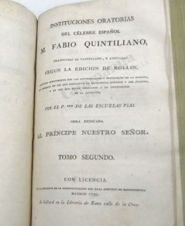 INSTITUCIONES ORATORIAS 2 VOLUMENES INCLUIDOS