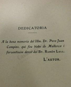 VIDA COMPENDIOSA DEL BT. RAMON LLULL