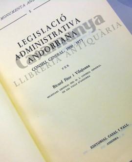 LEGISLACIO ADMINISTRATIVA ANDORRANA