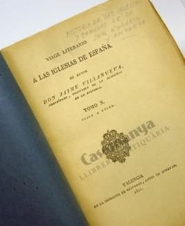 VIAGE LITERARIO A LAS IGLESIAS DE ESPAÑA TOMO X