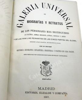 GALERIA UNIVERSAL DE BIOGRAFIAS Y RETRATOS 2 VOL.