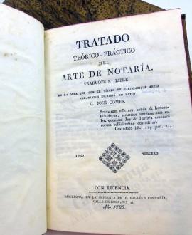 TRATADO TEÓRICO PRÁCTICO DEL ARTE DE NOTARÍA 3 VOL