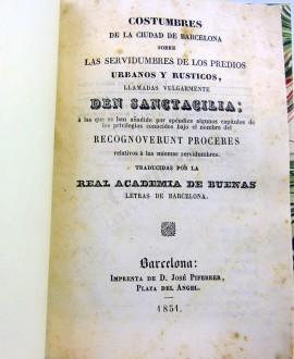 COSTUMBRES DE LA CIUDAD DE BARCELONA