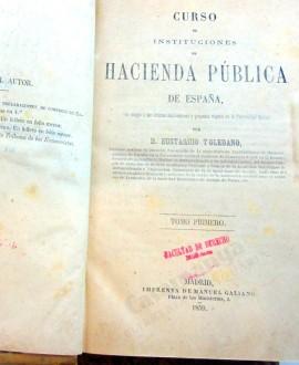 CURSO DE INSTITUCIONES DE HACIENDA PÚBLICA