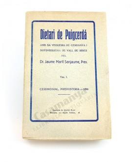 DIETARI DE PUIGERDA  VOL.I